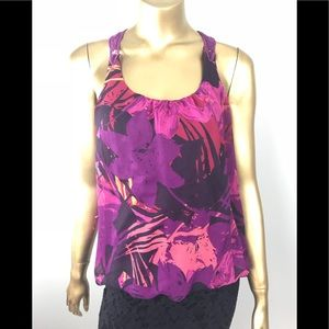 Express Floral Racerback Lace Blouse, Small 🌺